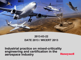 Industrial practice on mixed-criticality engineering and certification