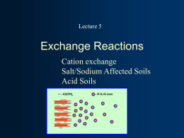 Lecture 5, Soil Chemistry
