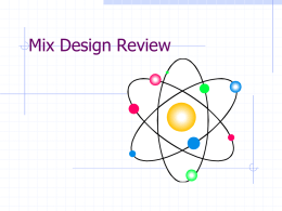 mixdesign review