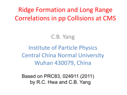 Ridge Formation and Long Range Correlations in pp Collisions