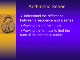 C1 Arithmetic series