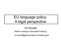 European language policy: a legal perspective