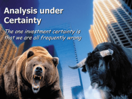 10-11 Analysis under certainty