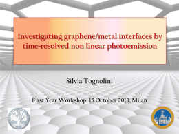 Silvia Tognolini First Year Workshop, 15 October 2013, Milan
