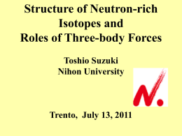 Structure of Neutron-Rich Isotopes and Three