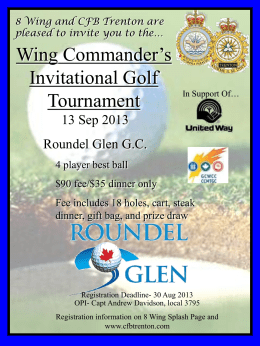 Wing Commander`s Invitational Golf Tournament