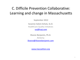 C. Difficile Prevention Collaborative: Learning and