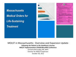 Presentation - Massachusetts Coalition for the Prevention of Medical