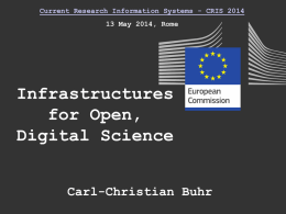 Infrastructuresforopendigitalscience-140512050454