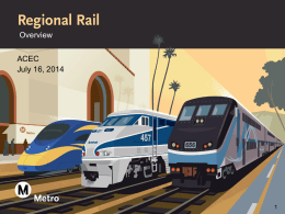 Regional Rail - ACEC of California