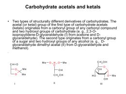 Carbohydrate acetals and ketals