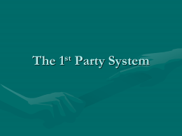 The 1st Party System