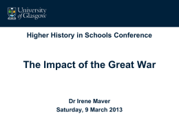 Maver Impact of the Great War March 2013