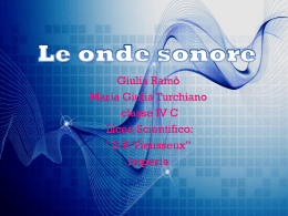 Le onde sonore - Liceo Imperia .it