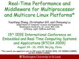 Real-Time Performance and Middleware for Multiprocessor and