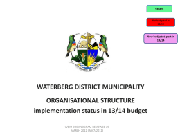 Narrative to budget document