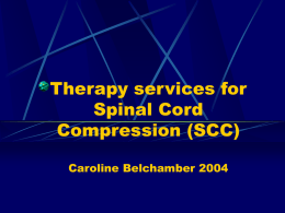 Presentation on Spinal cord compression delivered to Poole