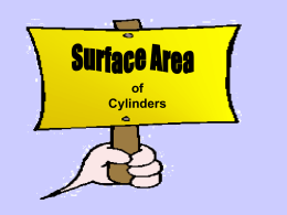 Surface Area of a Cylinder - Western Reserve Public Media