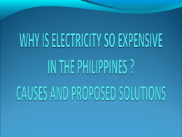Why is electricity so expensive in the Philippines?