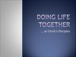 Doing Life Together - Danube International Church