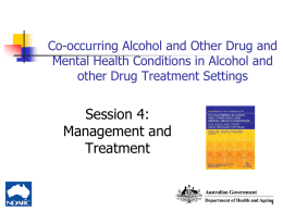 Management and Treatment - National Drug and Alcohol