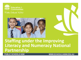 Staffing under the ILNNP - Supporting Low SES School Communities
