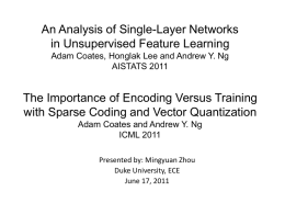 An Analysis of Single-Layer Networks in
