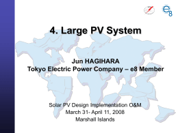 Large PV Systems