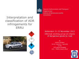 ERRU classification of infringements as defined in Regulation EC no