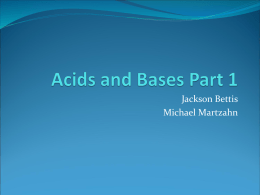 Acids and Bases Part 1 - Tri