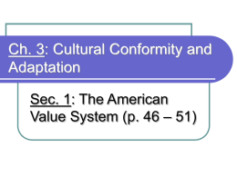 Identify/describe each of the 7 traditional American values