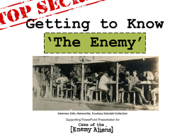 Getting to Know `The Enemy` - NSW Migration Heritage Centre