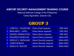 terminal access control - National Defense College of the Philippines