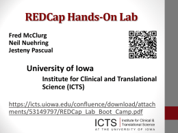 REDCap - Institute for Clinical and Translational Science
