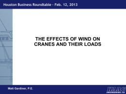The Effects of Wind on Crane and Their Loads, Matt Gardiner, Haag