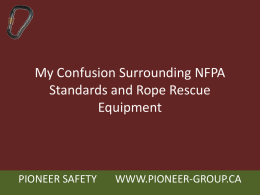 My Confusion Surrounding NFPA Standards and Rope