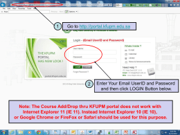 Steps for registering Courses thru KFUPM Portal
