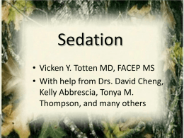 Sedation Controlled