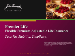 Indexed UL - JHLifeInsurance