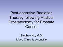 Post-operative Radiation Therapy following