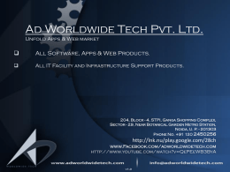 Ad Worldwide Tech Pvt. Ltd. Unfold Apps & Web