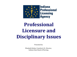 Who is on the Indiana State Board of Nursing?