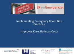 Emergency Room Visit Limit - Washington State Hospital Association