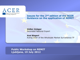 120719_2nd edition of ACER guidance issues