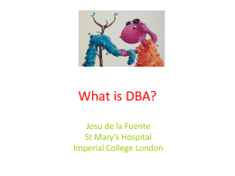 1 – Dr Josu De La Fuente – What is DBA?