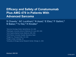 amg 479 - Sarcoma Oncology