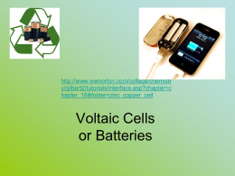Voltaic Cells - EARJ Chemistry