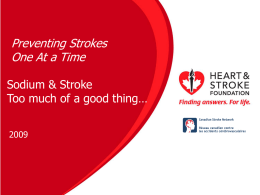 Sodium - Heart and Stroke Foundation of Ontario