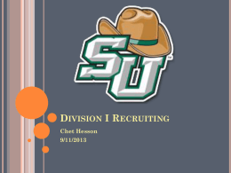 Division I Recruiting - Stetson University Athletics