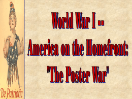 World War I: On the Homefront - West Deptford Public Schools